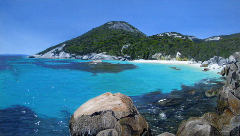 Playa de agua transparentes