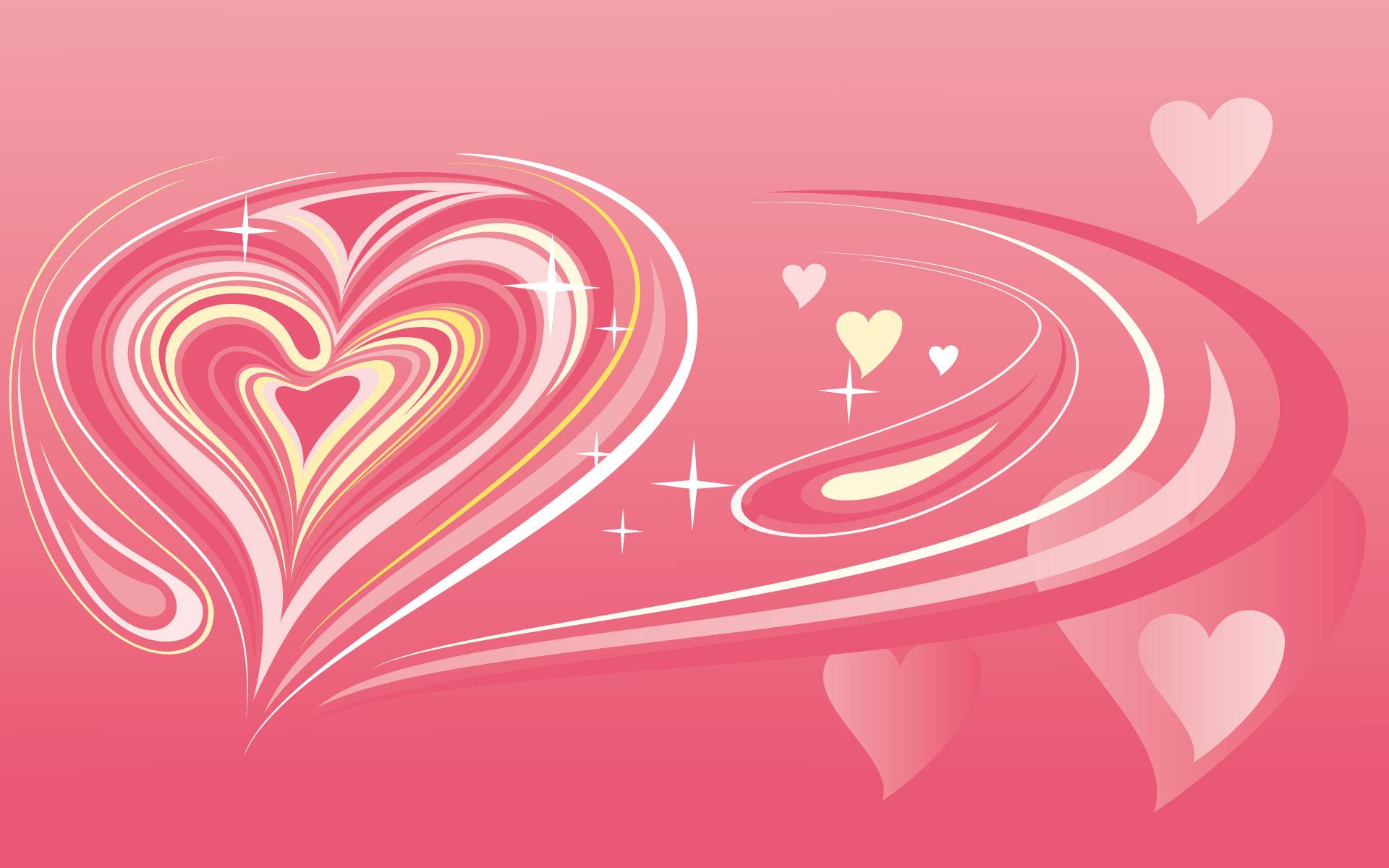 Wallpaper corazón abstracto