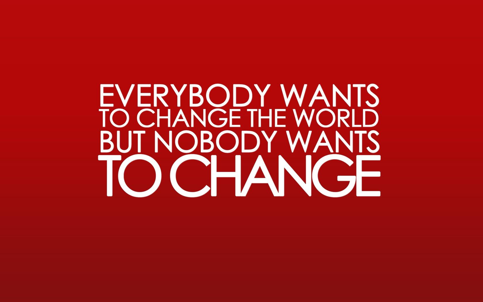Mensaje sobre cambiar el mundo