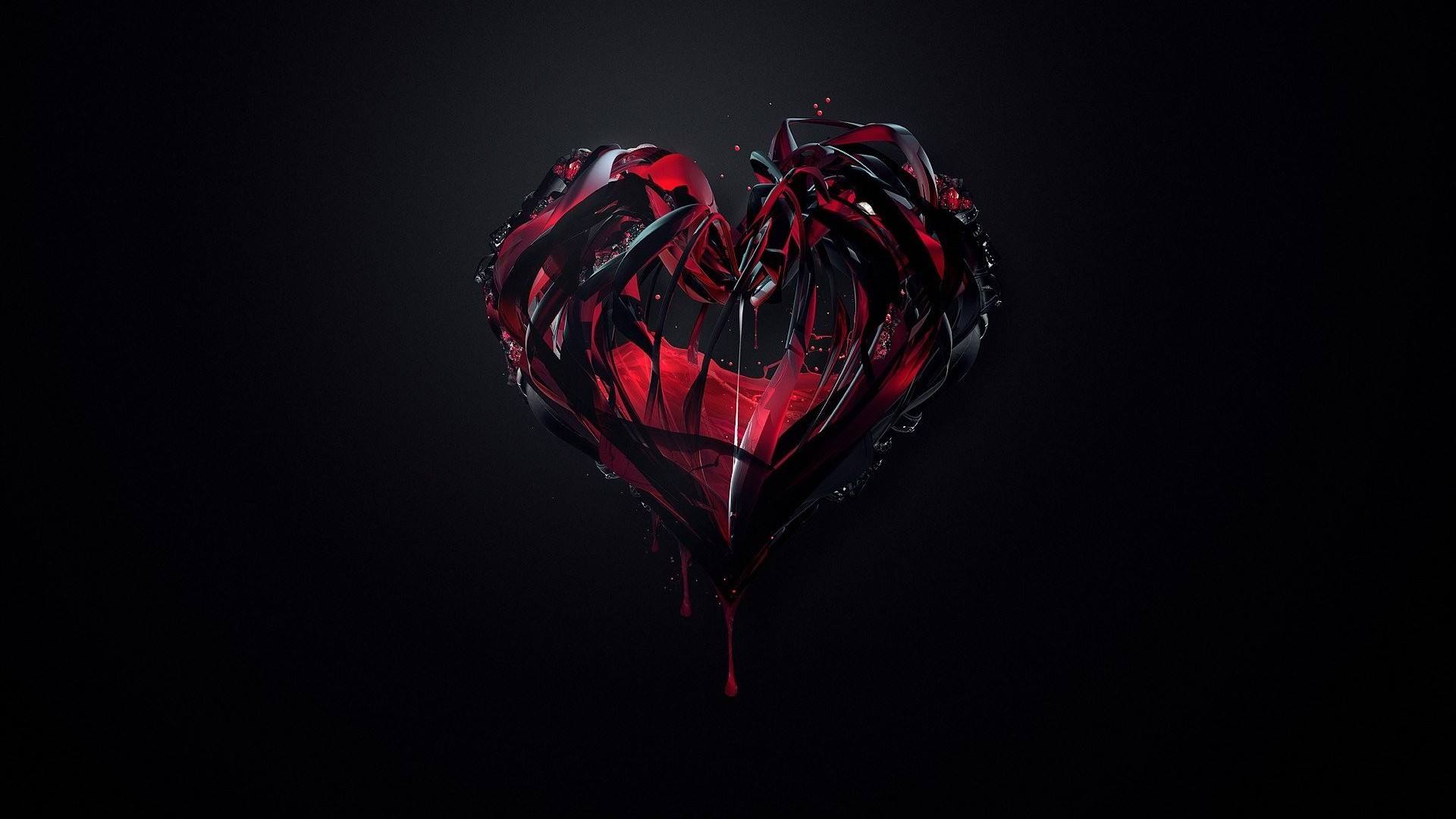 Corazón oscuro para fondo de pantalla