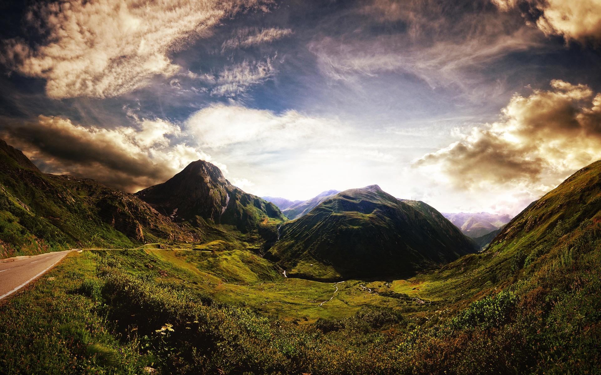 Paisaje de montañas para fondo de pantalla