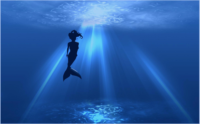 Imagen gratis de una sirena en el océano, en HD.