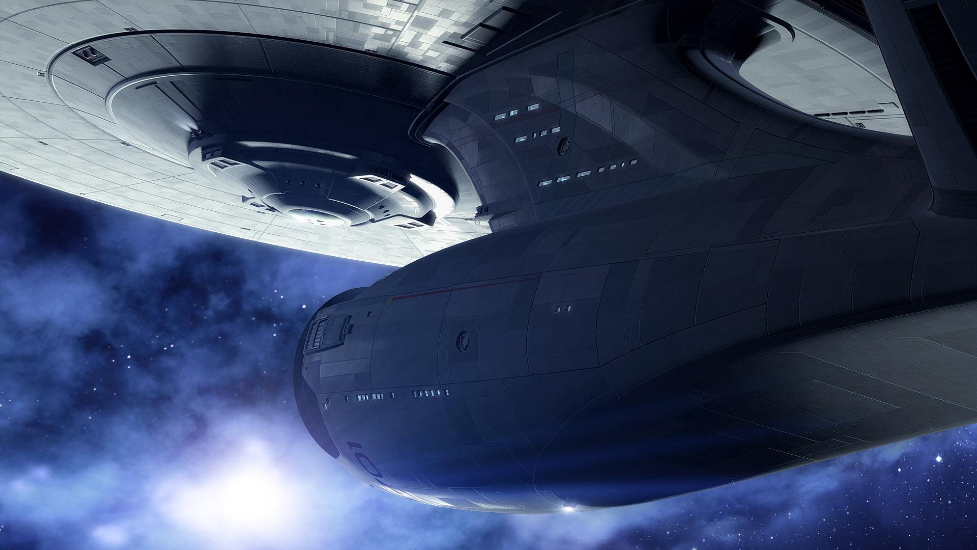 Imagen Del Uss Enterprise En Una Película De Star Trek En Hd