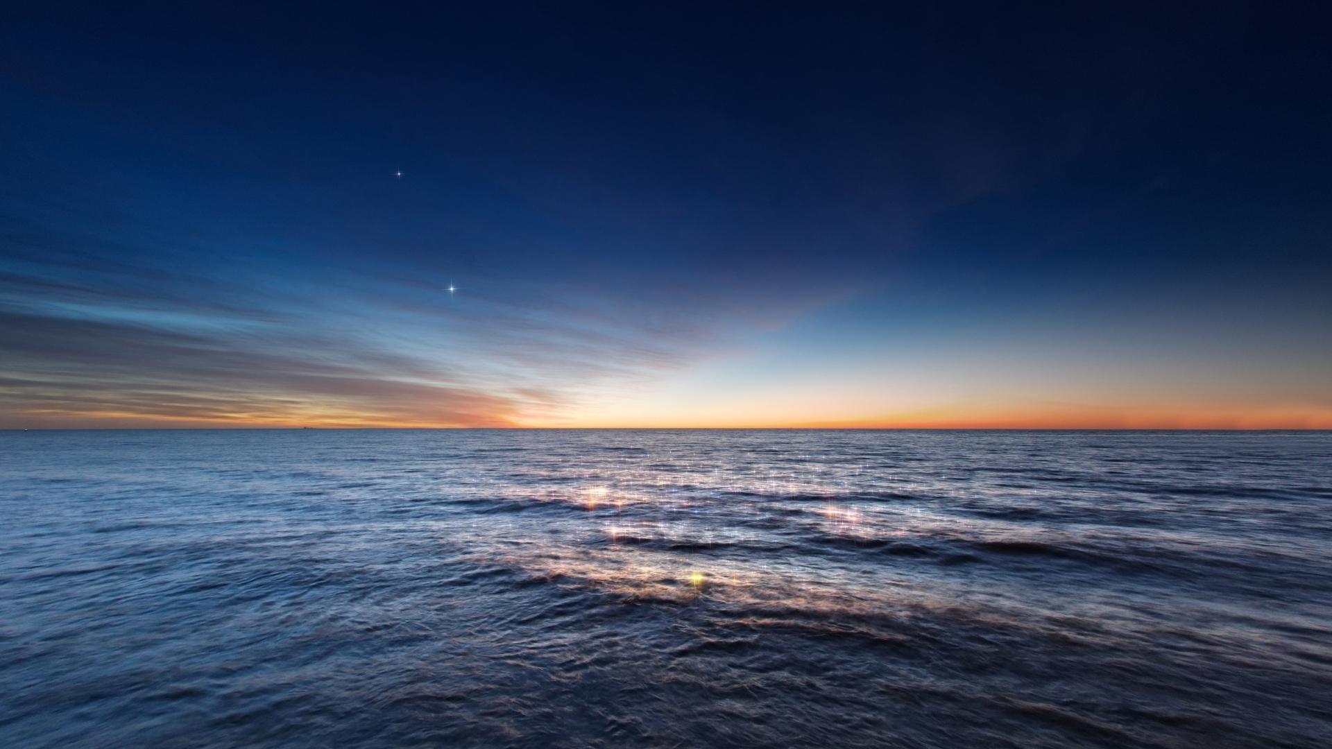 Imagen Gratis De Un Amanecer En El Océano, En HD