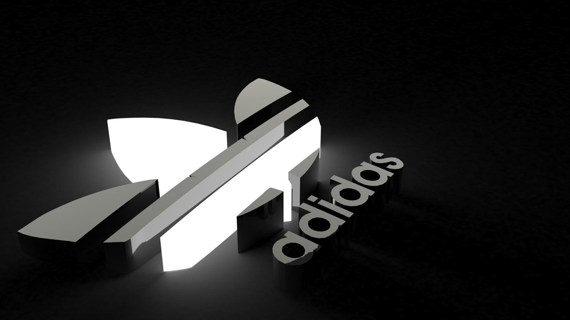 new style 4435d 3c1e6 Logo Adidas 3D. Fondos de pantalla de Marcas deportivas