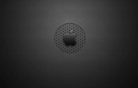 Walpaper Oscuro Logo Apple