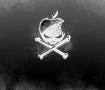 Wallpaper Logo Apple con Calavera