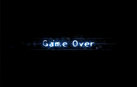 Game Over. Black Wallpaper