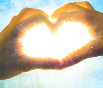Corazón de Amor brillando HD Wallpaper