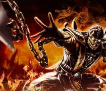 Wallpaper Scorpion Mortal Kombat