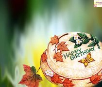 Wallpaper Tarta de cumpleaños Virtual Happy Birthday