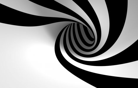 Wallpaper Espiral en Blanco y Negro