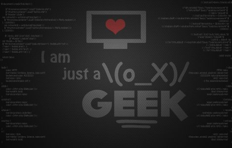 Wallpaper Solamente soy un Geek
